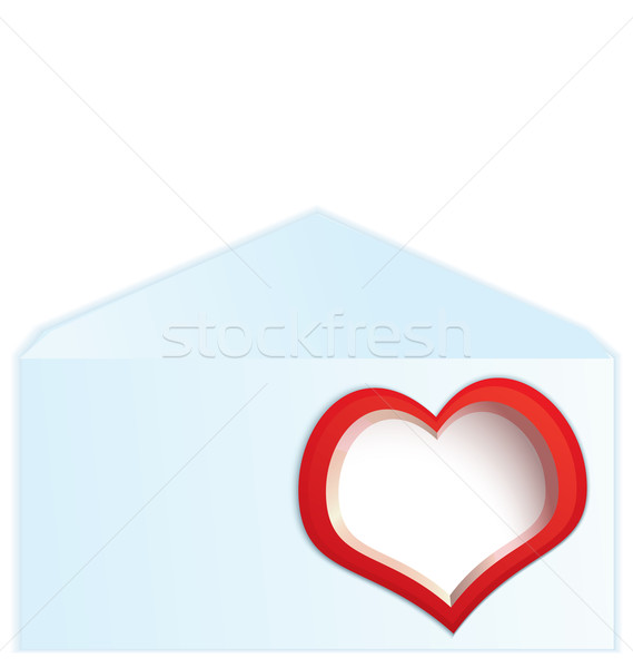 Red heart address space Stock photo © Zebra-Finch