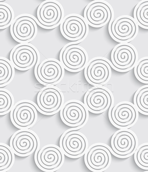 Spiral cut out white seamless background Stock photo © Zebra-Finch