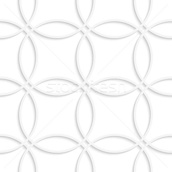 Egyszerű körök végtelenített absztrakt 3D mértani Stock fotó © Zebra-Finch