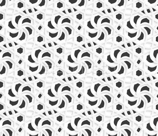 レイヤード 3D 飾り 黒白 シームレス 抽象的な ストックフォト © Zebra-Finch