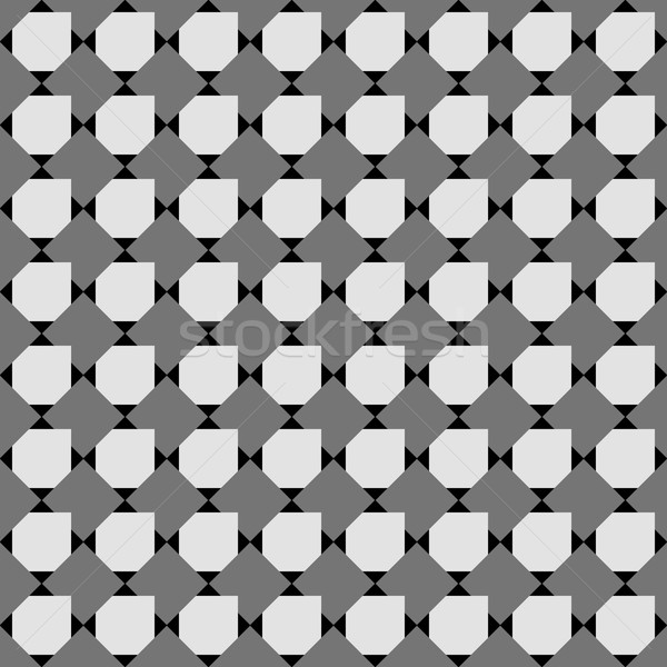 Monochrome pattern with black and gray overlapping squares on bl Stock photo © Zebra-Finch