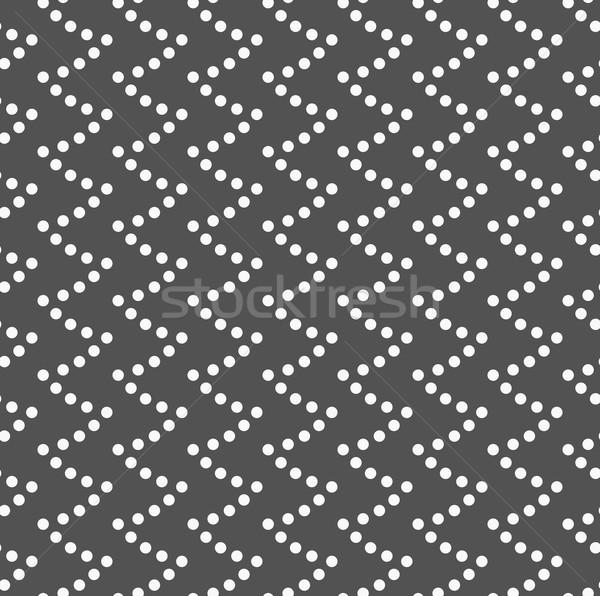 Monokróm minta pontozott hullámos végtelenített elegáns Stock fotó © Zebra-Finch