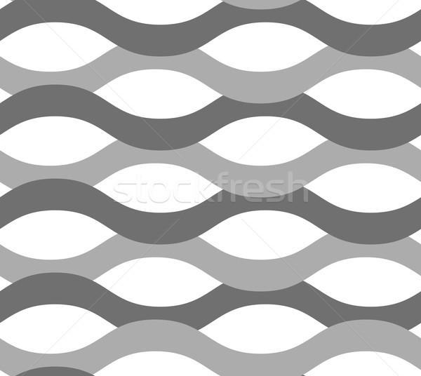 Szürke dísz hullámok végtelenített elegáns mértani Stock fotó © Zebra-Finch