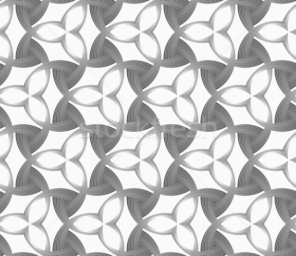 Monochrome three pedal flowers with dark triangles Stock photo © Zebra-Finch