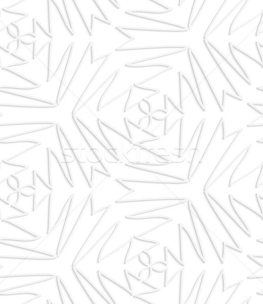 Papel blanco complejo sin costura efecto Foto stock © Zebra-Finch