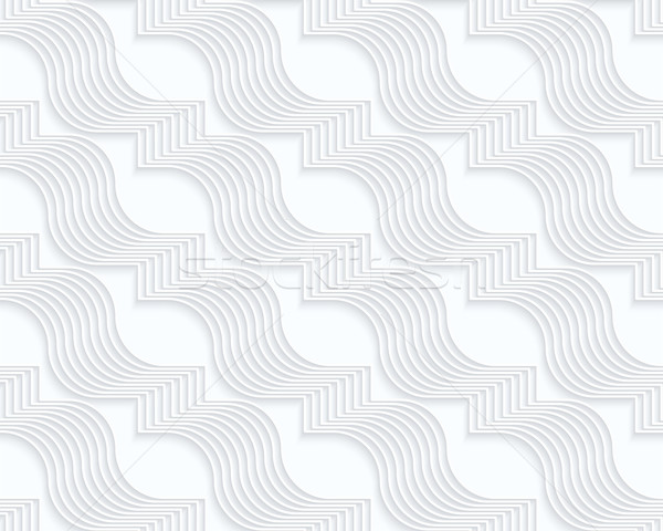 Quilling white paper diagonal wavy ribbons Stock photo © Zebra-Finch