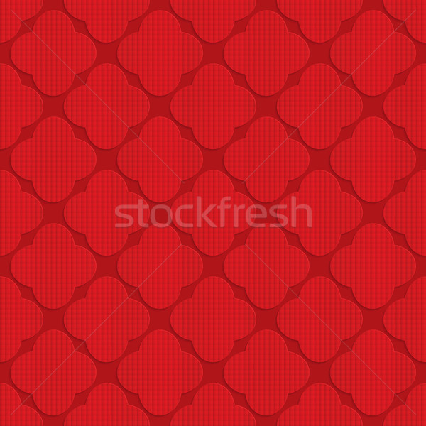 Czerwony cztery geometryczny 3D Zdjęcia stock © Zebra-Finch