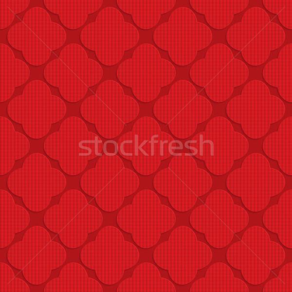 Rojo cuatro geométrico 3D Foto stock © Zebra-Finch