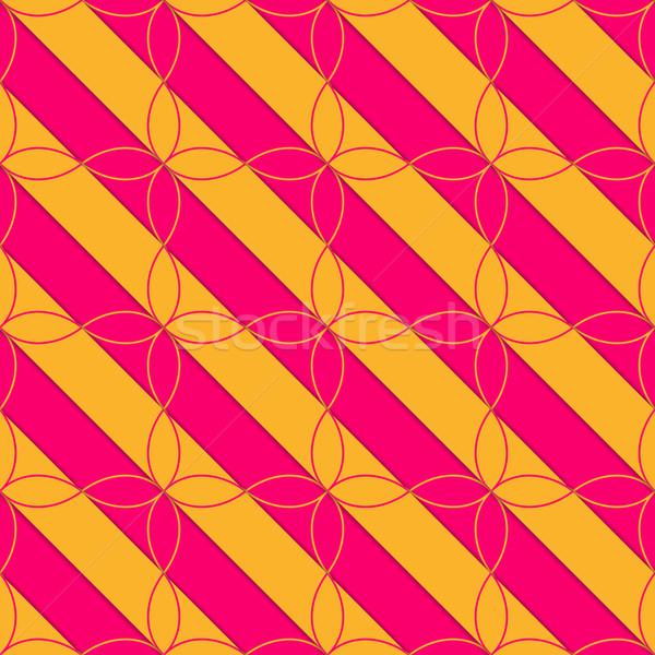 ретро 3D розовый оранжевый диагональ четыре Сток-фото © Zebra-Finch