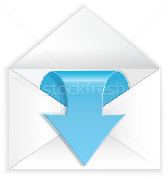 White envelope blue arrow symbol Stock photo © Zebra-Finch