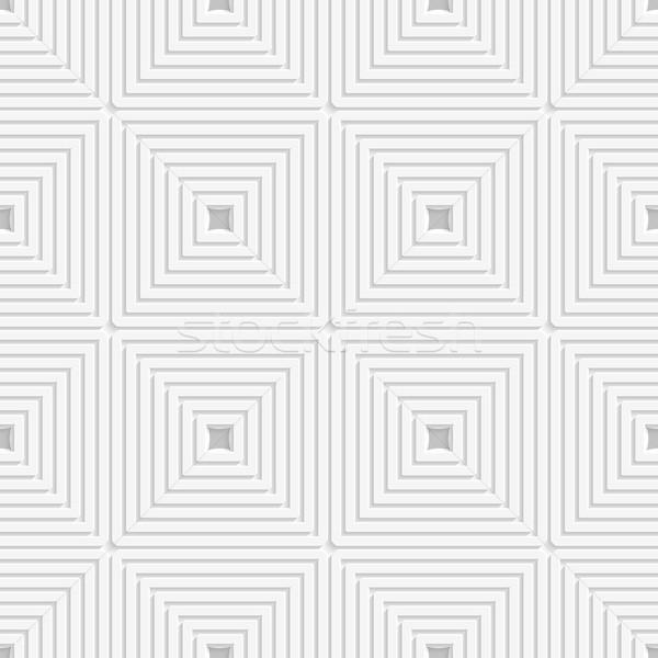 White offset squares tile ornament Stock photo © Zebra-Finch
