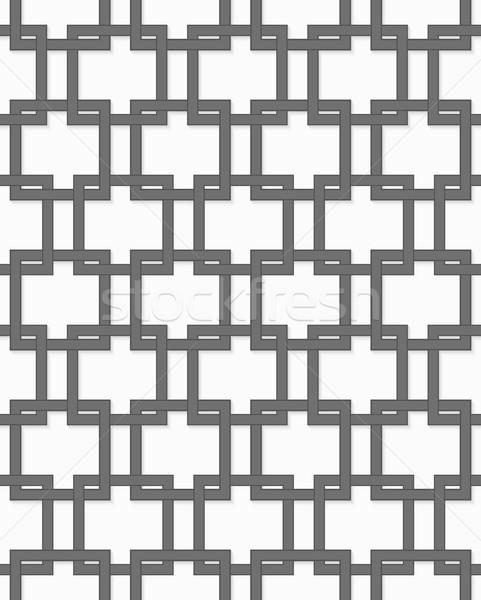 3D gray interlocking squares Stock photo © Zebra-Finch
