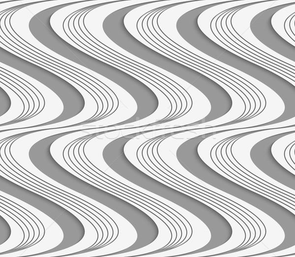 Papier vertical rayé solide vagues élégant Photo stock © Zebra-Finch