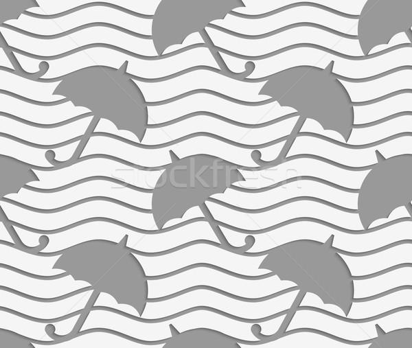 Perforated umbrellas Stock photo © Zebra-Finch