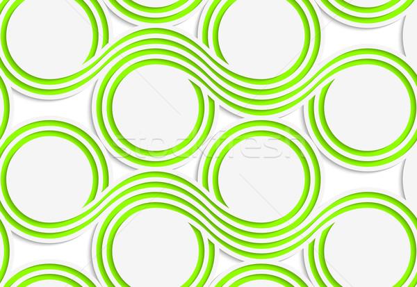 白 紙 緑 抽象的な シームレス ストックフォト © Zebra-Finch