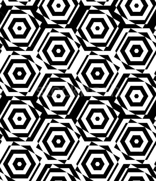 Czarno białe cięcia elegancki geometryczny nowoczesne Zdjęcia stock © Zebra-Finch