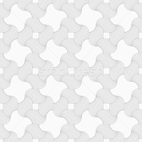 Slim gray hatched wavy squares Stock photo © Zebra-Finch