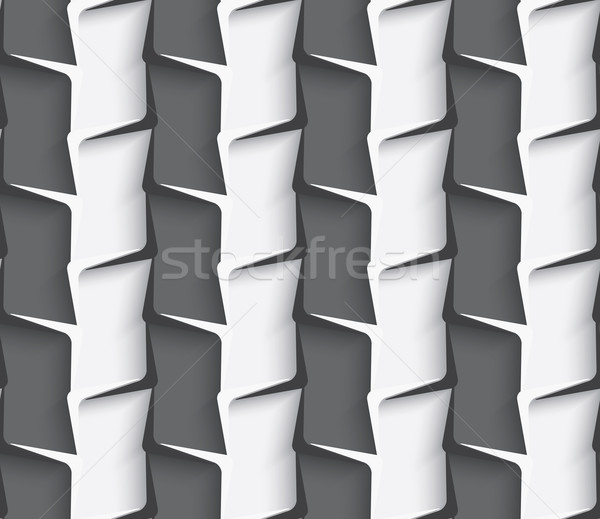 Stock photo: Geometrical ornament with white and dark gray vertical lines