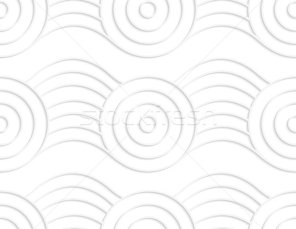 Paper white circles on bulging ribbon Stock photo © Zebra-Finch