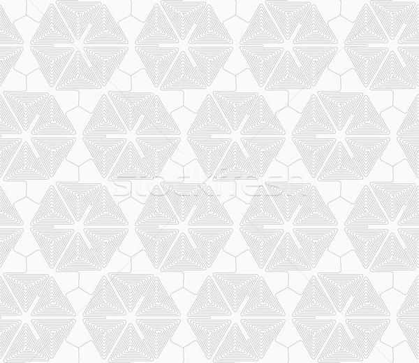 Slim gray triangle spirals forming hexagons Stock photo © Zebra-Finch