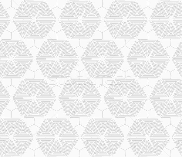 Ince gri üçgen geometrik model Stok fotoğraf © Zebra-Finch