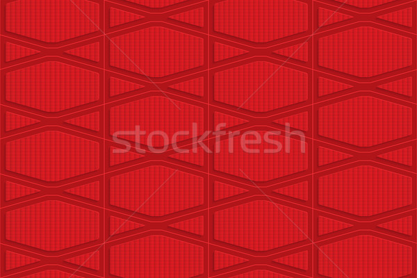 Red checkered squashed hexagons Stock photo © Zebra-Finch