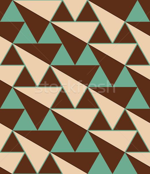 Retro 3D verde rosolare diagonale Foto d'archivio © Zebra-Finch