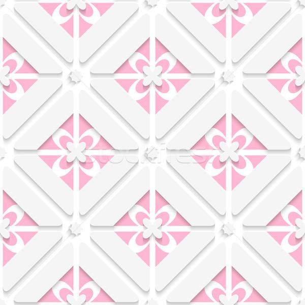 Diagonal pink floristic pattern Stock photo © Zebra-Finch