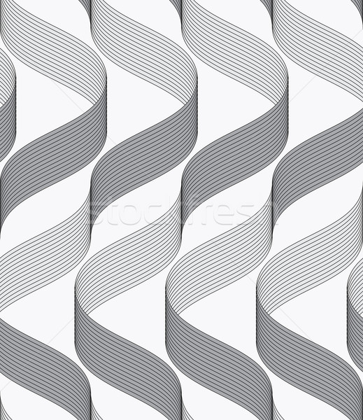Stock photo: Ribbons making waves with dark and light pattern