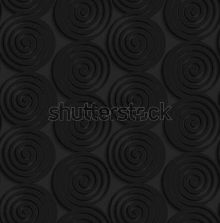 Negro 3D borde sin costura Foto stock © Zebra-Finch