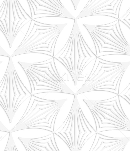 Paper white pointy striped trefoils Stock photo © Zebra-Finch