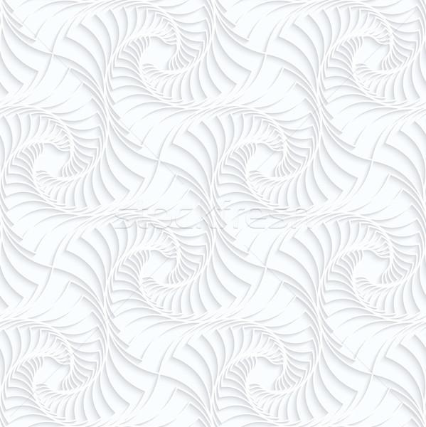 ストックフォト: 紙 · シームレス · 3D · 白 · 現実的な
