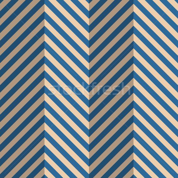 Retro blu strisce zig-zag vintage colorato Foto d'archivio © Zebra-Finch