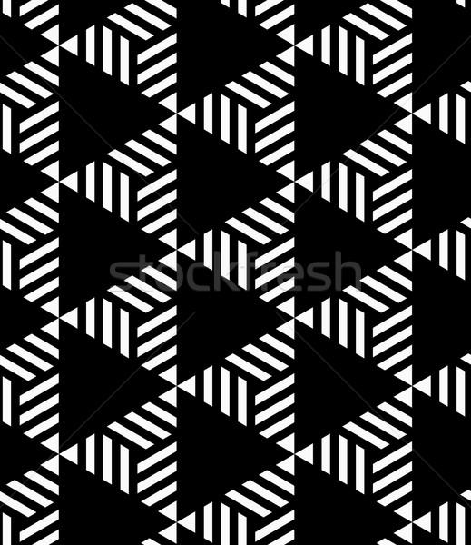 黒白 縞模様の 黒 スタイリッシュ 幾何学的な 現代 ストックフォト © Zebra-Finch