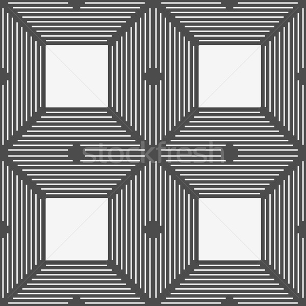 Monochrome pattern with thin black intersecting lines and white  Stock photo © Zebra-Finch