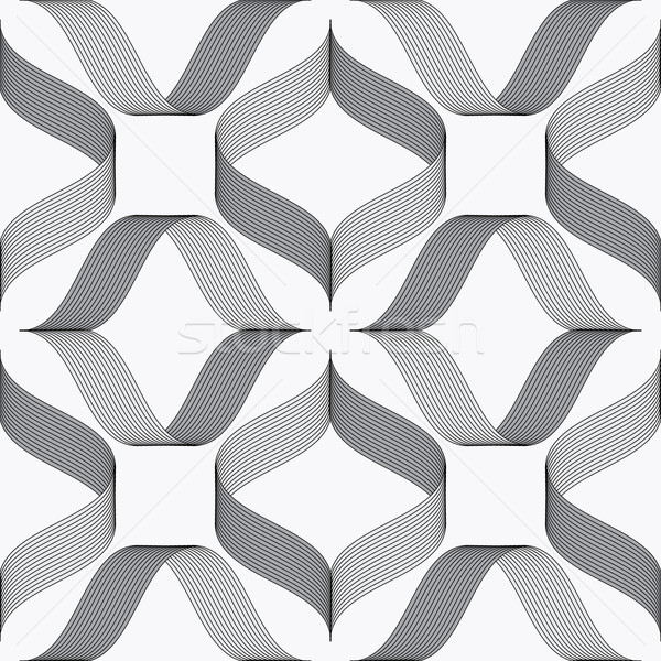 Stock photo: Ribbons forming rhombus pattern