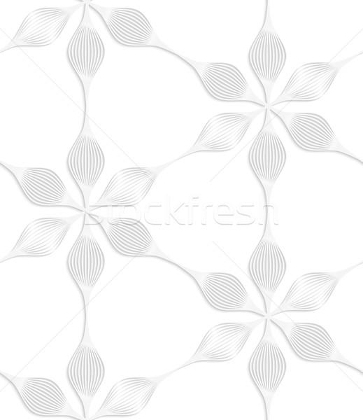 Paper white six pedal flowers Stock photo © Zebra-Finch