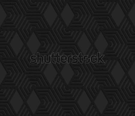 Nero plastica taglio abstract geometrica Foto d'archivio © Zebra-Finch