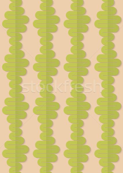 レトロな 緑 波状の ダイヤモンド ヴィンテージ ストックフォト © Zebra-Finch