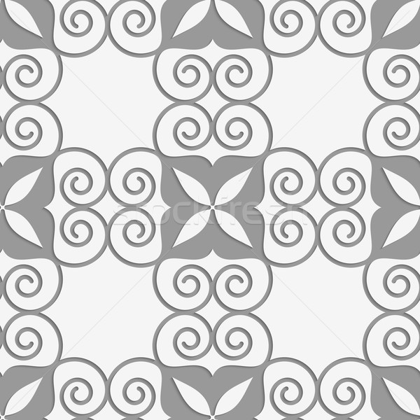 Perforated swirly grid with four foils Stock photo © Zebra-Finch
