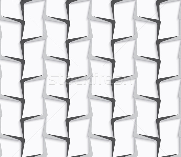 Geometrical ornament with white and gray vertical lines Stock photo © Zebra-Finch