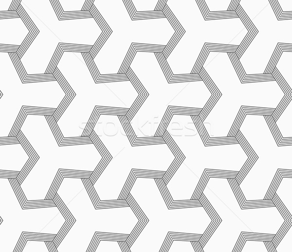 Slim gray tetrapods with striped bevel Stock photo © Zebra-Finch