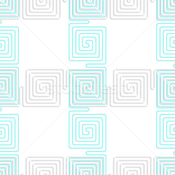 3D blanco espiral azul sin costura Foto stock © Zebra-Finch