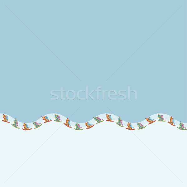 Sétál cipő illustrator minta ecset konzerv Stock fotó © Zebra-Finch