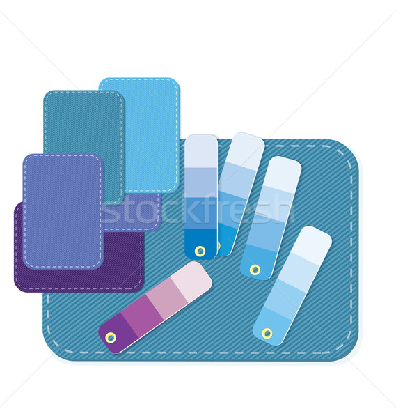 Swatches fabric and color vector Stock photo © Zebra-Finch