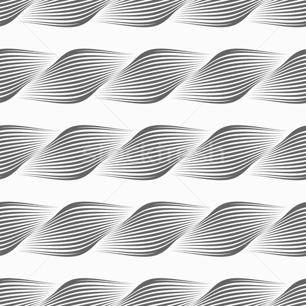 Gray ornament diagonal bulging shapes forming braid Stock photo © Zebra-Finch