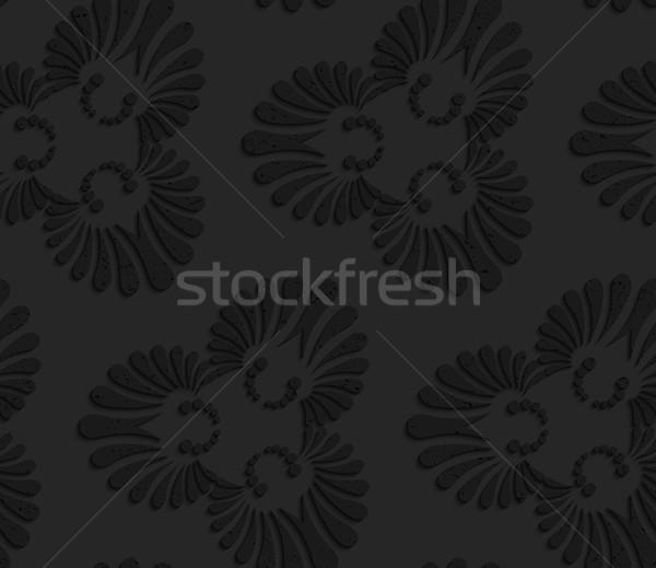 Black textured plastic flourish ornament Stock photo © Zebra-Finch