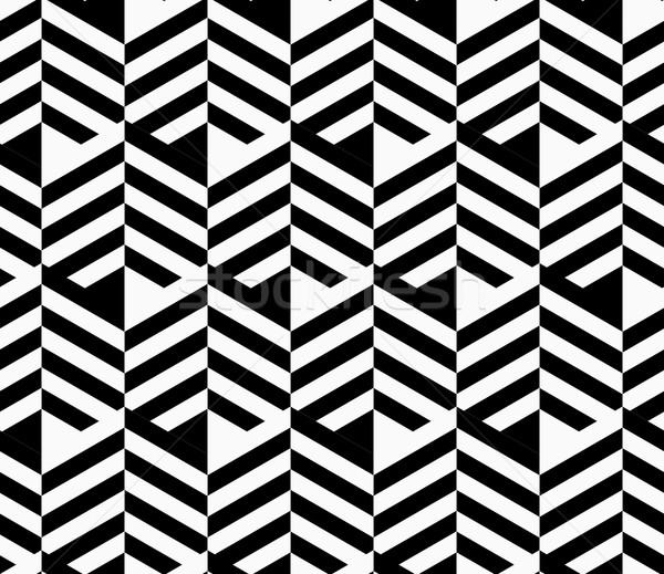 Czarno białe pasiasty elegancki geometryczny nowoczesne Zdjęcia stock © Zebra-Finch