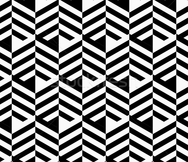 Blanco negro a rayas tiras elegante geométrico moderna Foto stock © Zebra-Finch