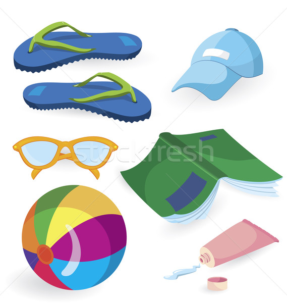 Beach fun items Stock photo © Zebra-Finch